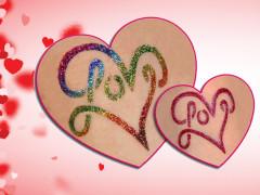 Valentin-napi Csillámtetoválások