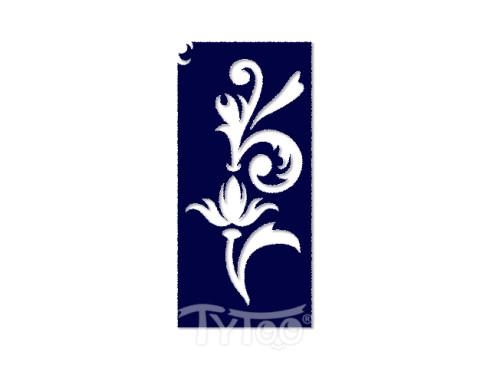 Testfestő minta sablon 5x10cm Virág inda