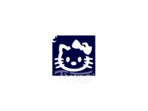 Testfestő minta sablon 5,5x5cm Hello Kitty