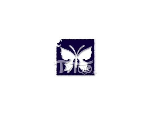 Ini-Mini sablon 4x4 cm Lepke pillangó