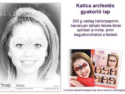 TyToo Arcfestés gyakorlólap A/4 Katica