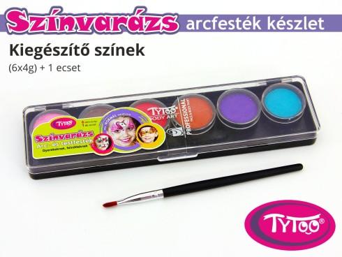 TyToo Színvarázs Arcfesték szett 6x4 g Kiegészítő színek