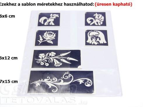 Sablon tároló  8 zsebes A/4 Átlátszó, KÖZEPES