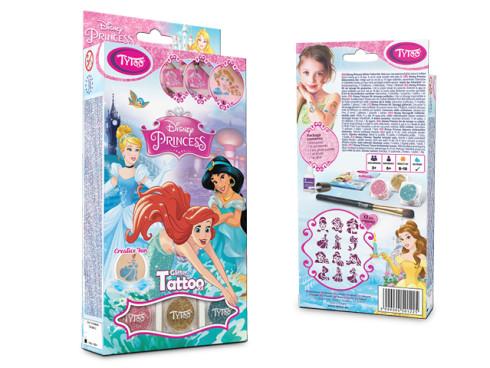 Disney Hercegnők Csillámtetoválás szett