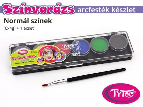 TyToo Színvarázs Arcfesték szett 6x4 g Alap színek