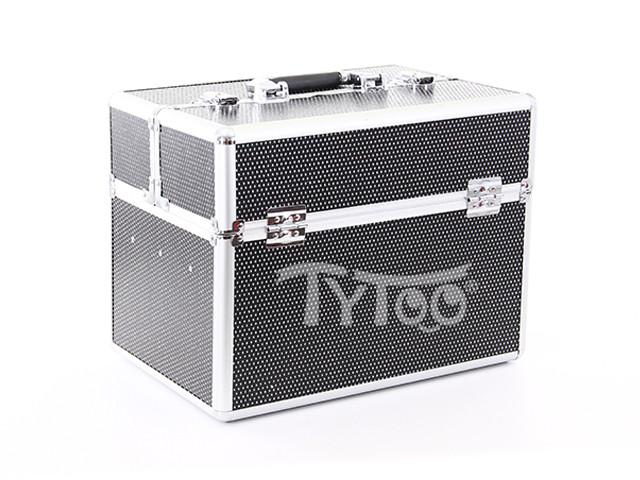 Nagy kozmetikai bőrönd Csillogós Fekete - TyToo 8bbed60df5
