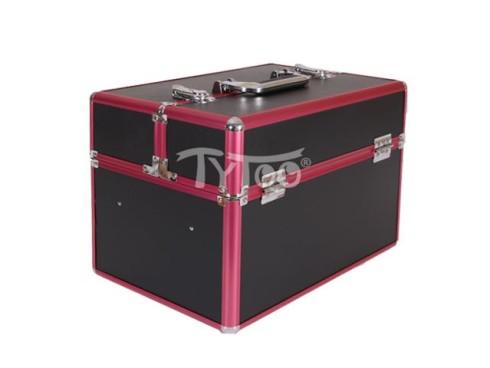 Nagy kozmetikai bőrönd Fekete-Rózsaszín