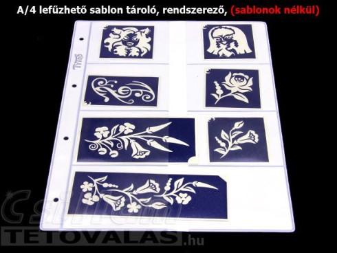 Fehér sablon tároló 8 x 2 zsebes Fehér, KÖZEPES