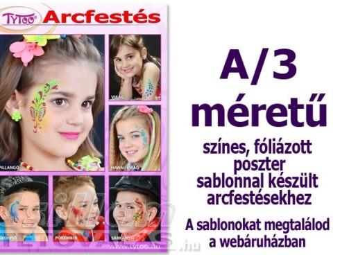 Arcfestés plakát A/3 Sablonnal készült mintákkal