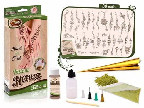 TyToo Instant Henna Szett Kéz és Láb mintákkal