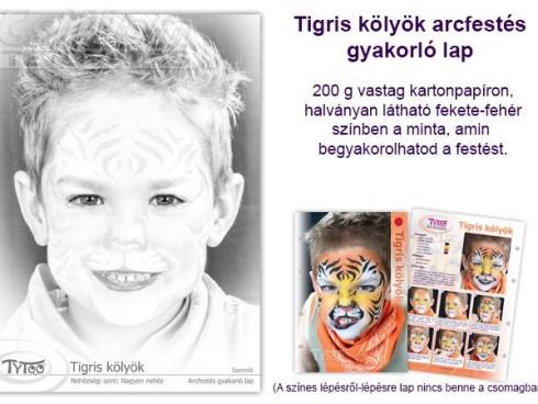 TyToo Arcfestés gyakorlólap A/4 Tigris kolyok