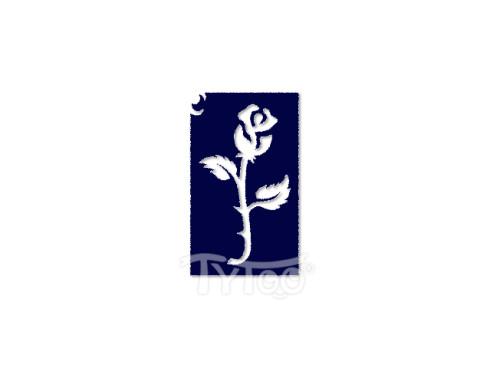 Testfestő minta sablon 6x4cm Virág rózsa