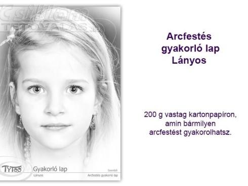 TyToo Arcfestés gyakorlólap A/4 Üres Lányos 1
