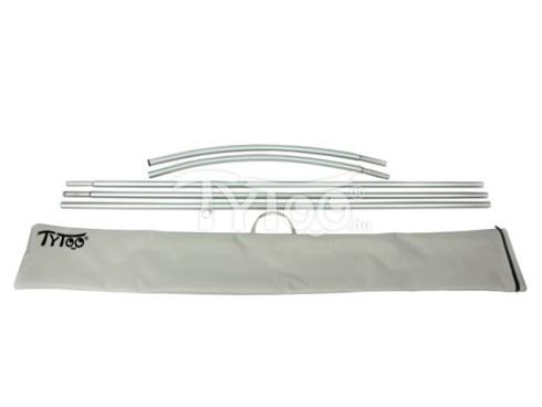 Cápazászló Rúd hordozótáskával 120x70cm