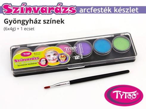 TyToo Színvarázs Arcfesték szett 6x4 g Gyöngyház színek