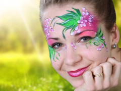 Tavaszi virág arcfestés otthon, egyszerűen [lépésről-lépésre]
