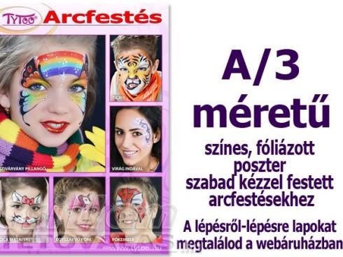 Arcfestés plakát A/3 Szabadkézzel készült mintákkal