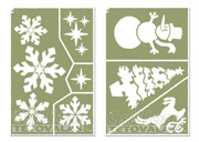 Sablonok - Karácsonyi műhó sablonok
