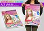 Hajkréta poszter A/3 Testfestőknek Színes fóliázott