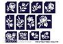 Testfestő minta sablon 12db MK1 Kalocsai Magyaros virág csomag