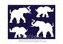 Tükör testfestő minta sablon Egy minta 4-6cm TM-19 Elefánt