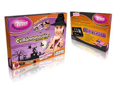 Halloweeni TyToo Csillámtetoválás Szett