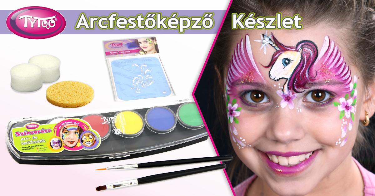 Arcfestés lépésről lépésre a TyToo arcfestőképző Szettel